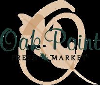 A logo of Oak Point Fresh Market
